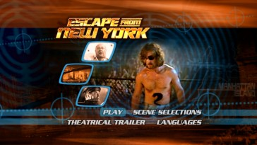 The DVD included in the Escape from New York Blu-ray + DVD combo is totally the movie's original double-sided disc, as this 2000-ish main menu confirms.
