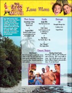 "The DVD-ROM Party Planner section of the DVD provides a number of Adobe Acrobat Documents which can guide you through your very own ""Even Stevens Movie""-themed party. This Luau Menu pages gives you some ideas of what foods and beverages to serve."
