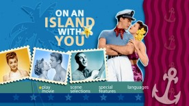 """On an Island With You"" gets the nicest-looking Main Menu, but each film gets a unique, appropriate selection screen motif of its own."