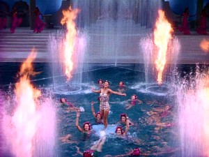 "They don't call them Aqua Musicals for nothing. Flames fly and water spurts in the spectacular conclusion to ""Bathing Beauty."""