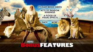 Evan Almighty strikes a Marilyn Monroe-type pose in the third of four menus that stretch out the Bonus Features.