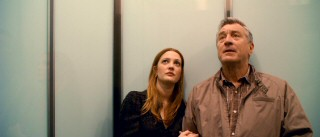 On the elevator ride up, Vegas dancer Rosie (Drew Barrymore) is confident her father (Robert De Niro) will be impressed by her spacious digs.