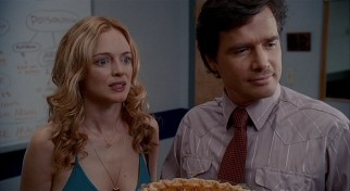 Alex (Heather Graham) is surprised to recognize some names on the homicide map of her police detective boyfriend (Matthew Settle).