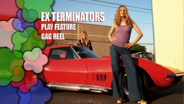 There's no scene selection, subtitles, just a single luxury... Exterminators' main menu is as primitive as can be.