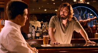 Ben Affleck goes grungy and bearded in the supporting role of Joel's best friend, bartender Dean.