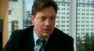 After receiving an upsetting call at work, John Crowley (Brendan Fraser) can't help but put on his sad dad face.