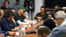 "Seth MacFarlane is much more visible in the sneak peek at the table read for ""We Have a Bad Feeling About This"", included on the ""Something, Something, Something, Dark Side"" Blu-ray and DVD."