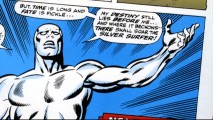 """Sentinel of the Spaceways"", the longest bonus in the Featurettes section, gives us many looks at the Silver Surfer's career in comic books."