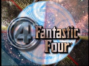 "The 1990s ""Fantastic Four"" title graphic, from Season One's opening credits."