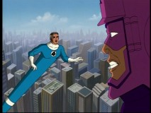 Mr. Fantastic shows off his flexibility in battle with the ginormous Galactus.
