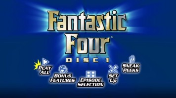 The rather plain-looking Disc 1 Main Menu. Just imagine it with loud dance music.
