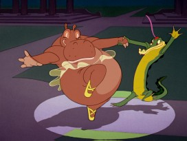 "Only in a Disney film could something like ""Dance of the Hours"" be performed by straight-laced hippos and alligators."