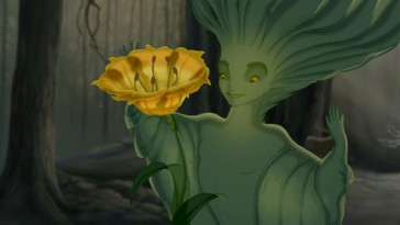 "The sprite brings about spring and with it, a large blooming flower in ""The Firebird Suite"" from ""Fantasia 2000."""