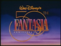 """Fantasia"" gets a new 50th anniversary logo in the theatrical trailer for its 1990 re-release."