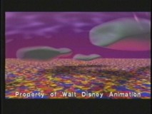 "A CGI test for ""Symphony No. 5's"" second early concept contains what looks like Styrofoam peanuts hovering over paint blobs."