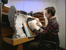 "Animators use maquettes for reference to their hand-drawn animation in ""Creating the Firebird Suite."""