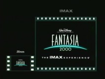 The IMAX trailer for Fantasia 2000 compares the size of standard 35 mm film to that of large-screen IMAX.