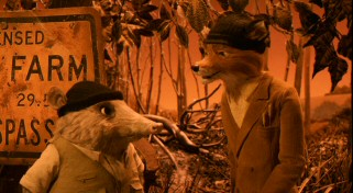 Relocation helps Mr. Fox (voiced by George Clooney) rekindle his passion for thieving after twelve years on the straight and narrow. His minnow-fishing super Kylie the opossum (Wallace Wolodarsky) is his accomplice, when he's not spacing out.