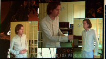 "In three different video windows, writer/director Wes Anderson acts out character's parts for animators in ""From Script to Screen."""