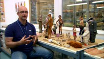 "Next to character puppets and spare heads, fabrication supervisor Andy Gent discusses ""Still Life (Puppet Animation)."""