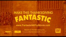 Many ignored the theatrical trailer's invitation to make Thanksgiving fantastic. But not me!
