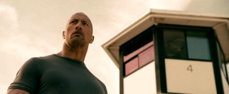 The film opens with its driver protagonist (Dwayne Johnson) released from prison and ready for revenge.