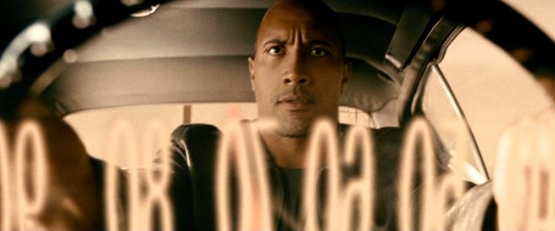"This through-the-speedometer shot enforces the film's title and its driver's (Dwayne ""The Rock"" Johnson) need for speed."