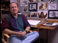 "Veteran Disney animator Glen Keane appears in front of storyboards depicting his standout contribution to the movie in ""Passing the Baton."""
