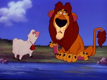 """Lambert the Sheepish Lion"" seems surprised to see you. Like he hasn't already been on DVD three times."