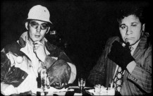 Hunter S. Thompson and Oscar Zeta Acosta, the real Raoul Duke and Dr. Gonzo, appear together in a frame from Acosta's biographical photo essay.