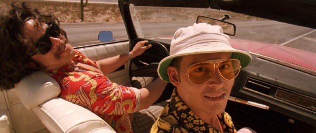 "Hop in with Raoul Duke (Johnny Depp) and Dr. Gonzo (Benicio Del Toro) for the wild ride that is Terry Gilliam's adaptation of Hunter S. Thompson's ""Fear and Loathing in Las Vegas."""