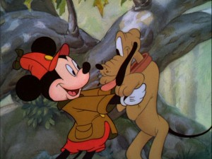 Mickey and his good friend Pluto. And you thought dogs were way bigger than mice...