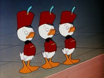 "Huey, Dewey, and Louie stand at attention in ""Straight Shooters."""