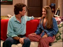 Steve (Scott Weinger) and D.J. sit in his new apartment, with no adult supervision. Gasp!