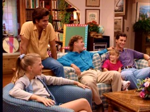 The Tanners and their extended family share a laugh in response to Stephanie's home video.
