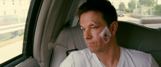 "Bruised and bandaged, ""Irish"" Micky Ward (Mark Wahlberg) contemplates his future in a post-fight family limo ride."