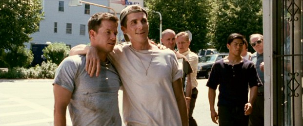 """The Fighter"", #26, dynamically opens with half-brothers Micky Ward (Mark Wahlberg) and Dicky Eklund (Christian Bale) strolling through their beloved working-class hometown, Lowell, Massachusetts."