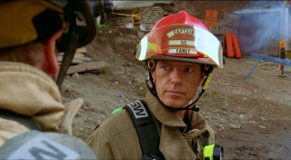 "Newly demanded in Hollywood Bruce Greenwood plays fire captain Connor Fahey, who gets to show his brave side in this impressively dramatic rescue sequence. No stranger to family fare, Greenwood held a similar paternal role in ""Racing Stripes."""