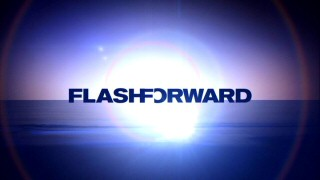 "The briefly-seen ""FlashForward"" logo pushes the title words together, then moves them apart."
