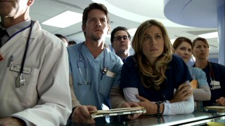 Mark's wife Olivia Benford (Sonya Walger) and her briefly suicidal intern Bryce Varley (Zachary Knighton) are two lead characters who give the show reason to spend time at the hospital.