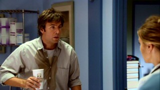 A-ha! Spilling coffee on himself is no big deal to newly-single dad Lloyd Simcoe (Jack Davenport) as he meets his foreseen adultery target.