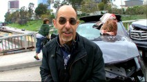 "David S. Goyer, co-creator, writer, producer, and director, discusses ""The Effects of a Global Blackout"" as filming of the ""FlashForward"" pilot shuts down a Los Angeles highway."