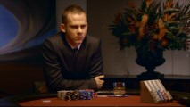 "Self-confident scientist Simon Campos (Dominic Monaghan) settles his dispute with Lloyd with a customary game of poker in ""Playing Cards with Coyote."""