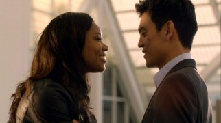 Zoey (Gabrielle Union) and Demetri (John Cho) form one of the show's seemingly ill-fated couples.