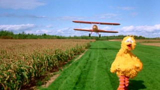 "Big Bird has a ""North by Northwest"" moment out in the farmlands as Ernie and Bert's biplane gets a closer look."