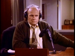 "Seattle radio shrink Frasier Crane (Kelsey Grammer) is surprised to get a call from a Martin who sounds just like his father in ""The Good Son."""