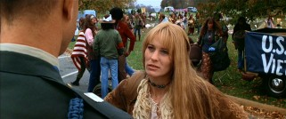 Grown-up, Jenny (Robin Wright) becomes a troubled hippie who Forrest enjoys running into.