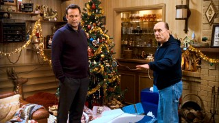 Brad's father Howard (Robert Duvall) is less than thrilled to receive a satellite dish for Christmas.