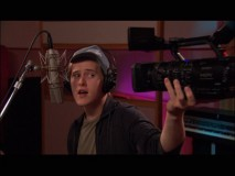 "Lucas Grabeel films himself in his music video for ""You Know I Will""."