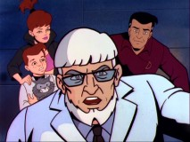 "Dr. Vernon Danger and his extended family of adventurers look at us in this spot-on spoof of 1960s Hannah-Barbera cartoons like ""Johnny Quest."""
